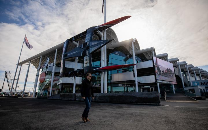 Team New Zealand's base at Auckland viaduct. Photo: RNZ