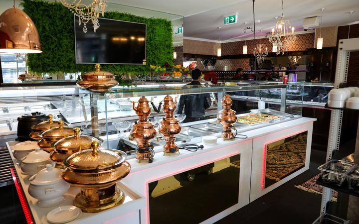 Inside Tanveer Jahangir's new Indian restaurant. Photo: RNZ / Nate McKinnon