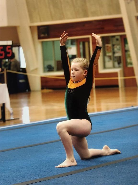 Lauren Bruce the gymnast. Photo: Lauren Bruce