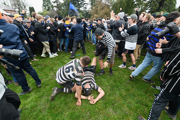 Christ's College students Olly Ryan and Anton Marshall after their win over Christchurch Boys'...