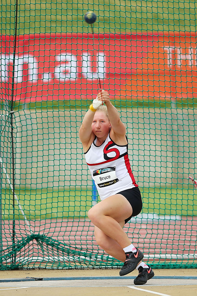 Lauren Bruce competing in Australia. Photo: Getty Images