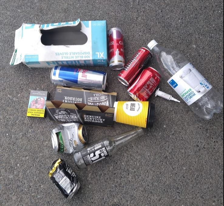 Another pile of rubbish found on a different day in the Springston area recently. Photo: Supplied