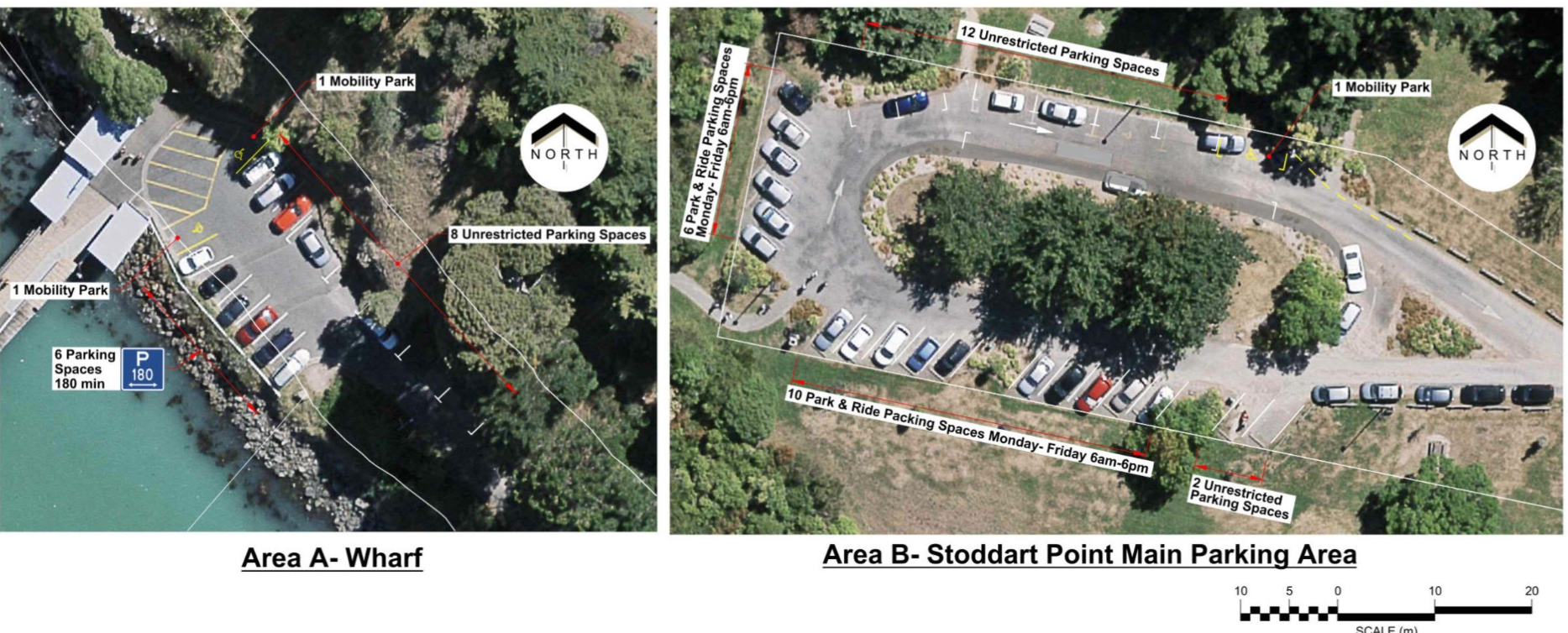 The proposed changes to the parking areas. Image: Christchurch City Council