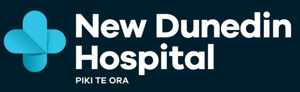 The New Dunedin Hospital logo has been used since 2018.