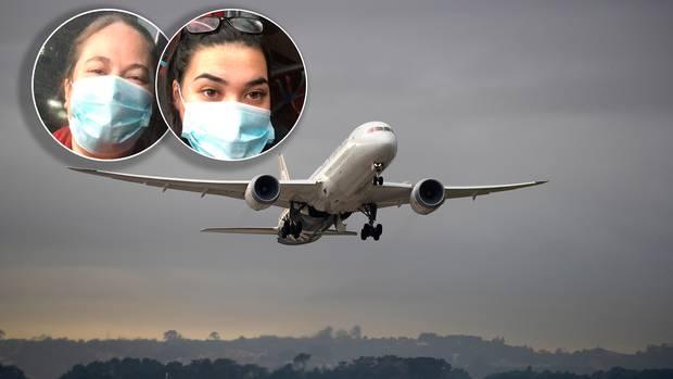 Desiraye Solomon and daughter Délia Brown were among those taken off an Air New Zealand flight in...