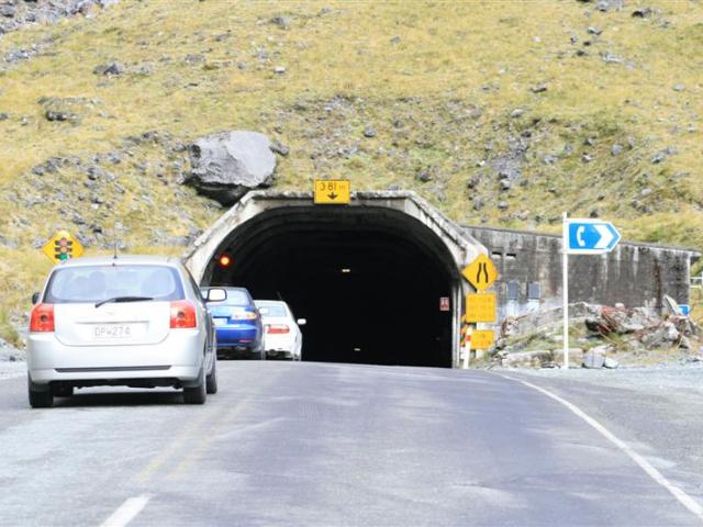 The Homer Tunnel on State Highway 94. Photo: ODT files