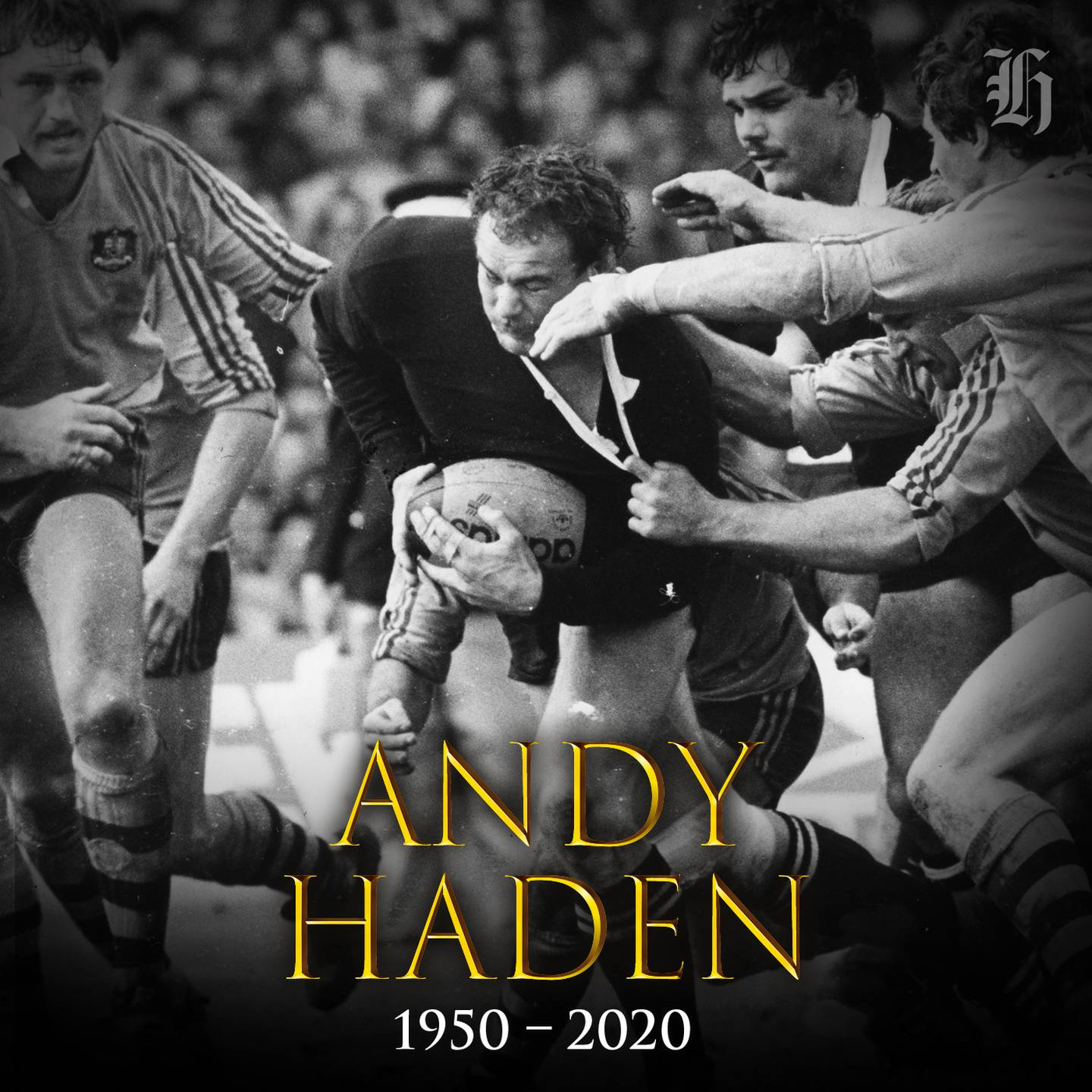 Andy Haden has died aged 69. Image: NZ Herald