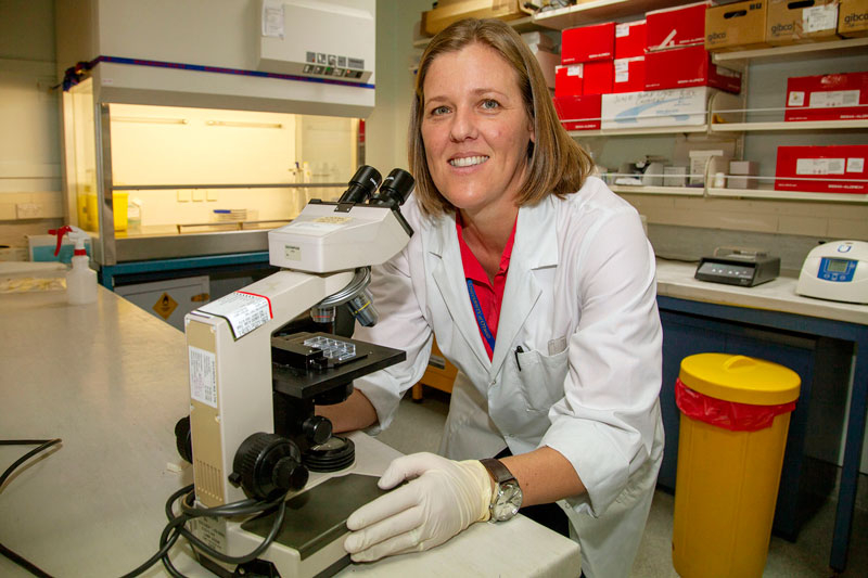 DIAGNOSIS: Dr Amy Scott-Thomas and her team have developed a urine test to diagnose Legionnaires'...