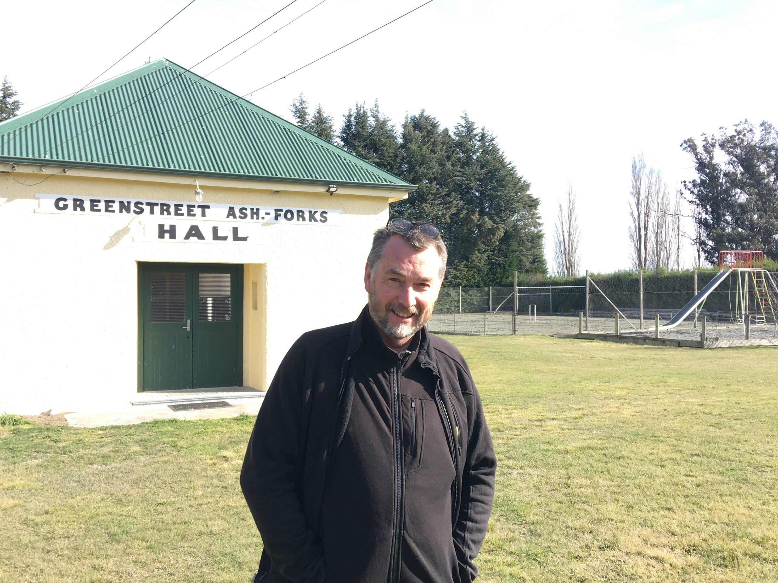 Greenstreet/Ashburton Forks Reserve Board chairman Ian Hodge on the grounds of the popular...