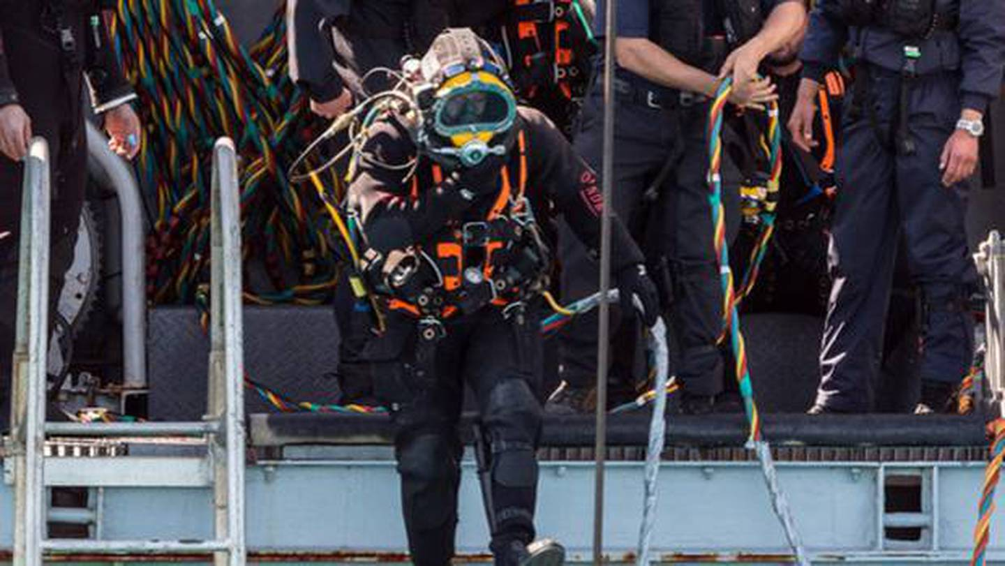 Royal New Zealand Navy divers were brought in to help find the Jubilee and its crew after the...