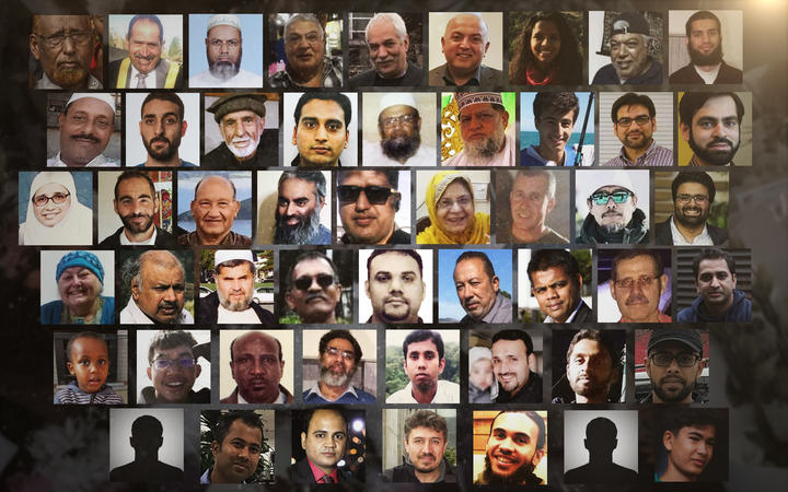 A montage of the 51 victims who were killed during the attacks on two Christchurch mosques. Photo: RNZ