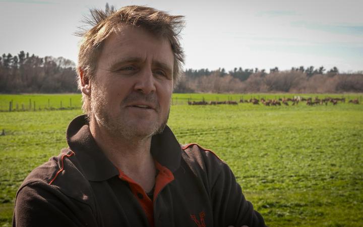 North Canterbury farmer Sam Zino. Photo: RNZ / Nate McKinnon