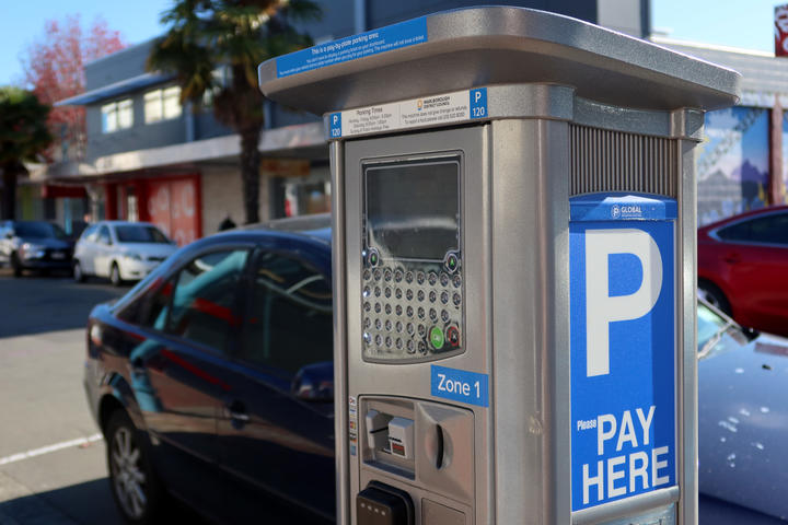 Pay-by-plate meters were rolled out in Marlborough in June last year. Photo: Chloe Ranford / LDR