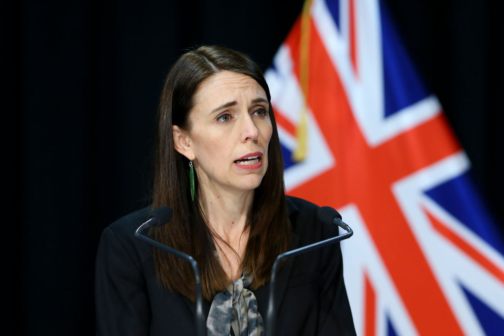 Prime Minister Jacinda Ardern speaks during a press conference at Parliament in Wellington today....