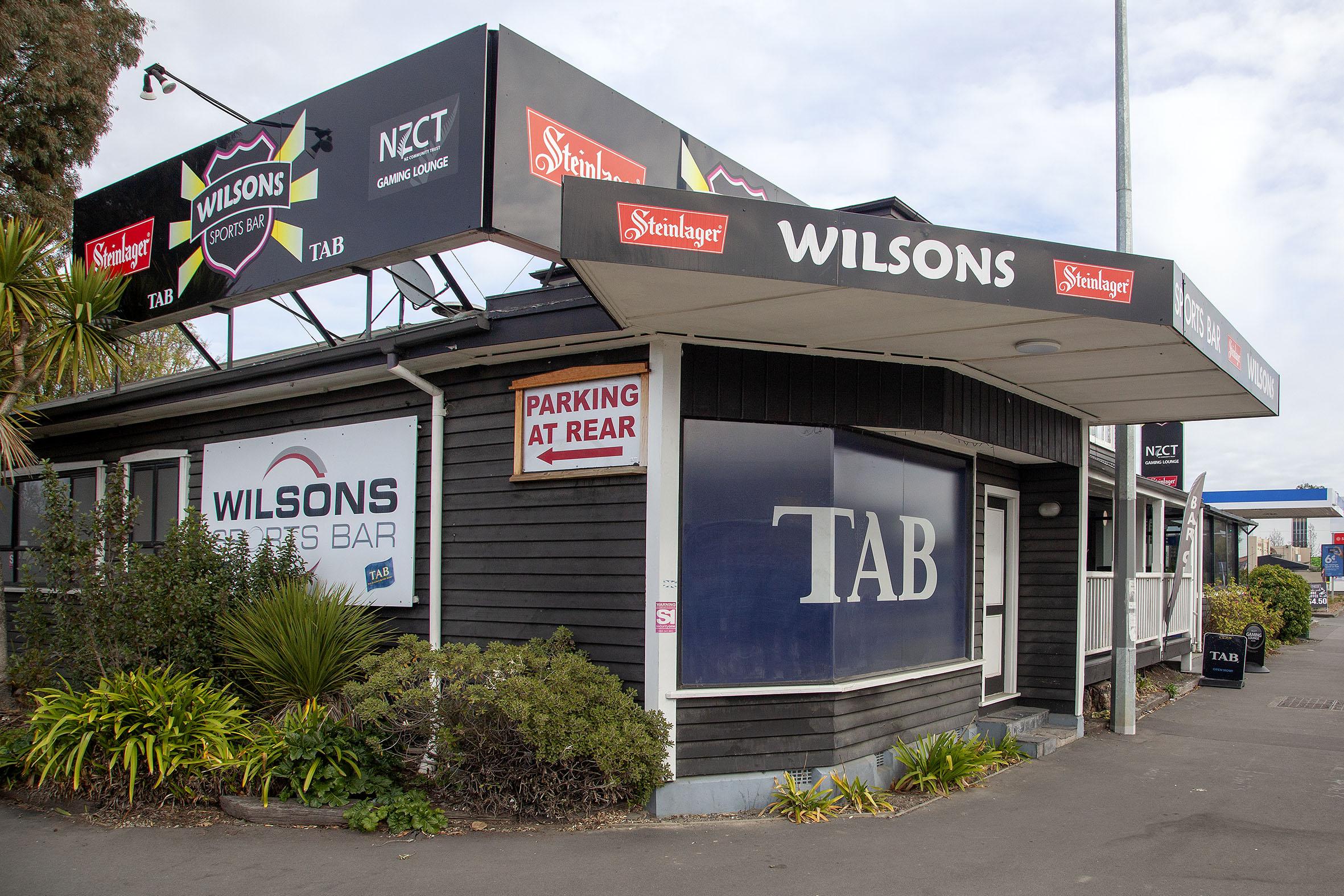 Wilsons Sports Bar on Riccarton Rd. Photo: Geoff Sloan