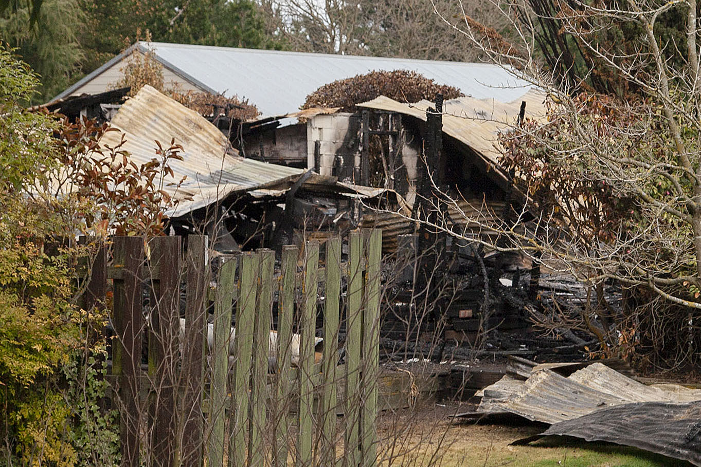 Zetland Lodge, the West Melton home of Tony and Lyn Prendergast, was severely damaged by fire a...