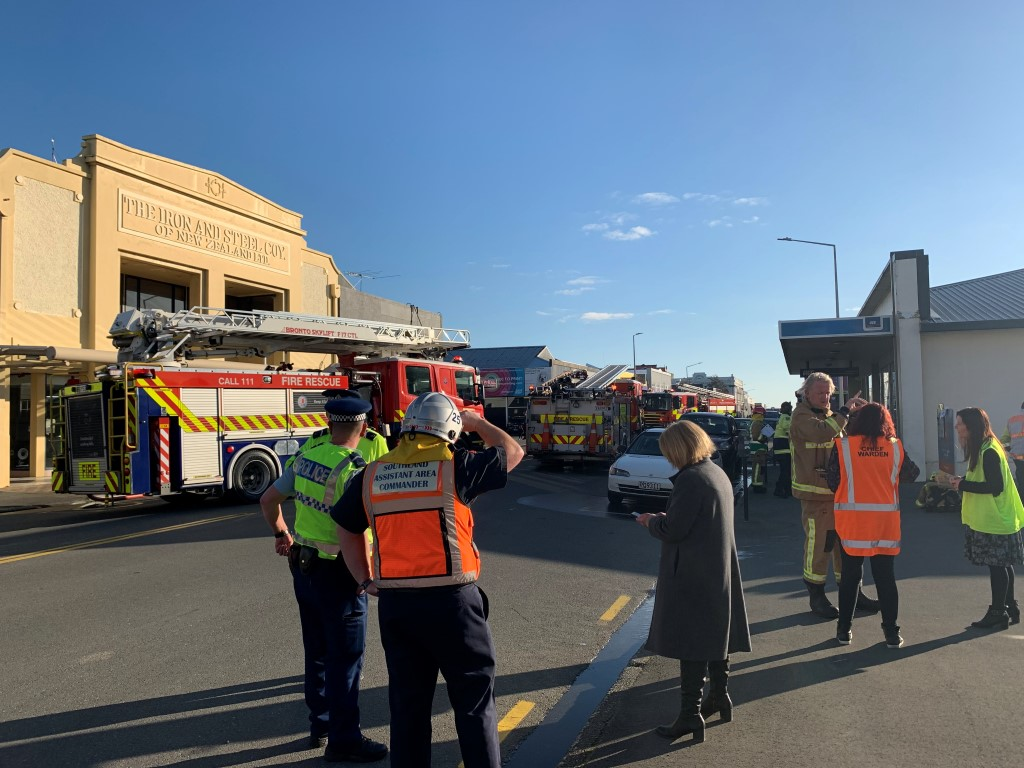 Emergency services at the scene this afternoon. Photo: Abbey Palmer