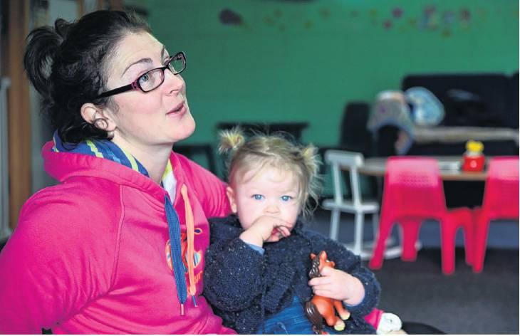 Jamie O'Neill and daughter Eliza Smith (16 months) enjoy some play time at the Gore Plunket rooms...