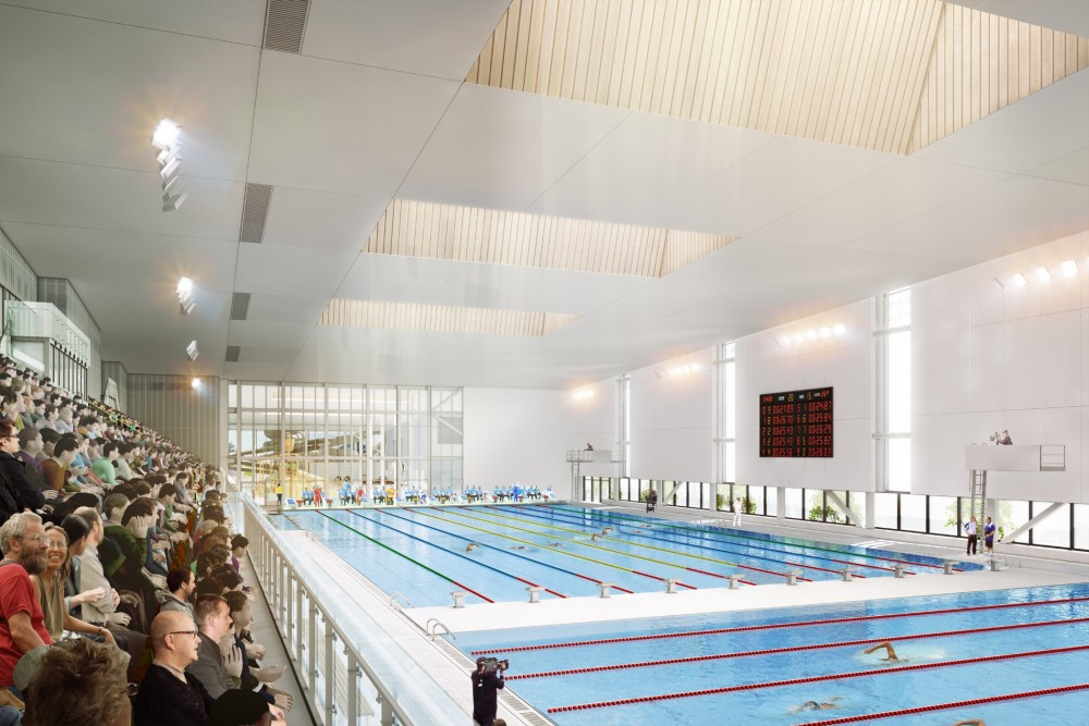 The Metro Sports Facility competition pool. Photo: Ōtākaro Ltd