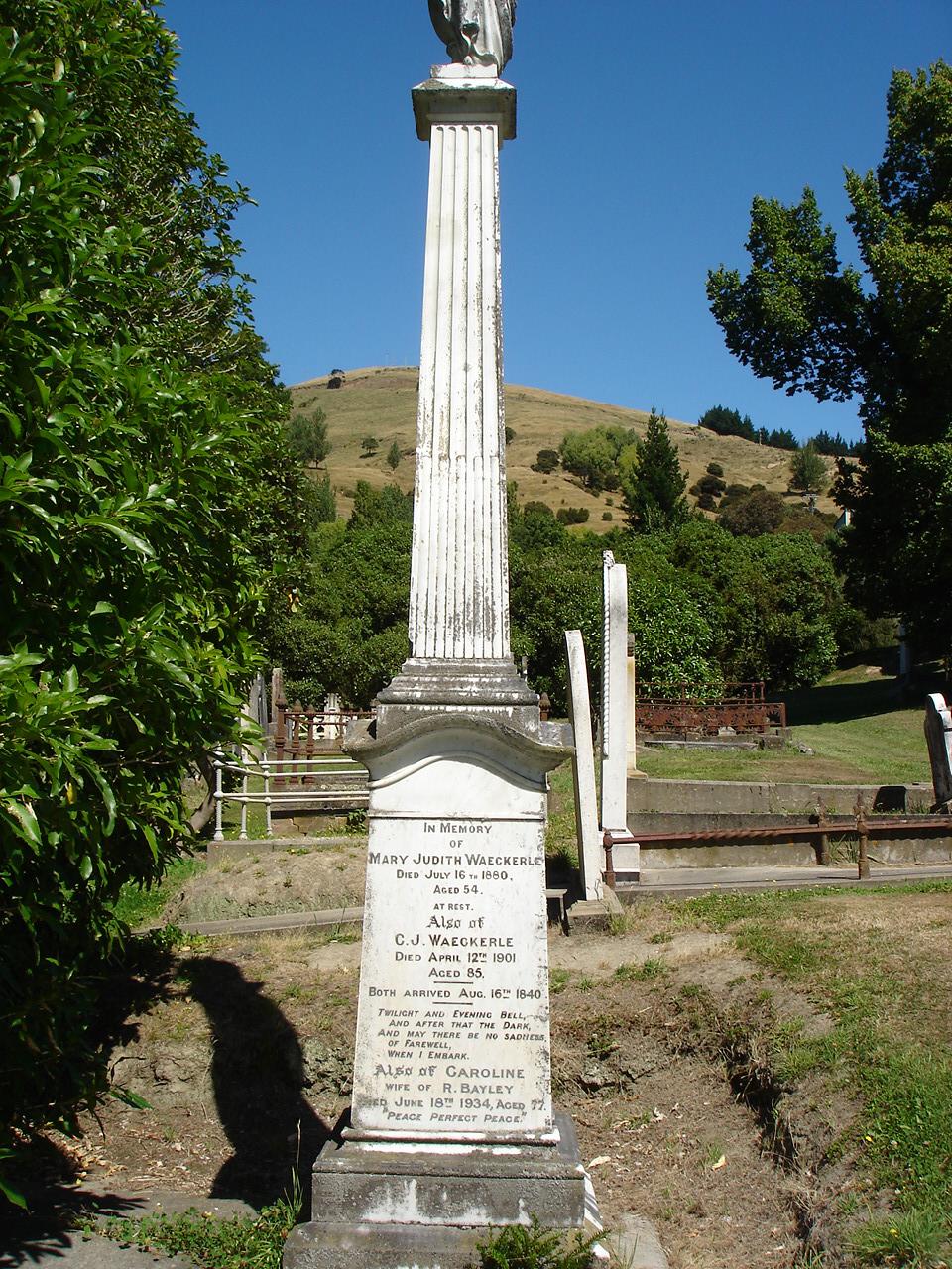 Marie Eteveneaux's headstone. Photo: Supplied