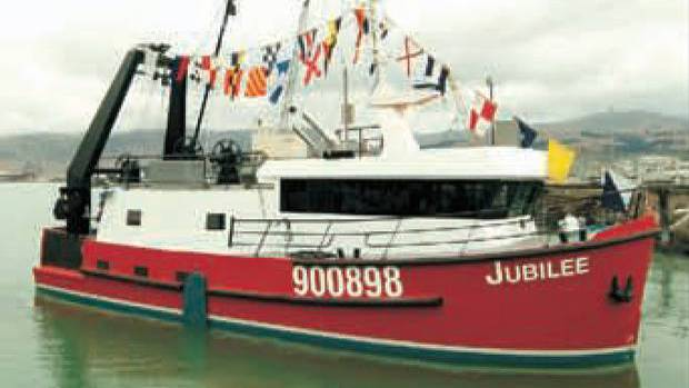 The FV Jubilee sunk after sending a distress signal in the early hours of October 18, 2015. Photo...