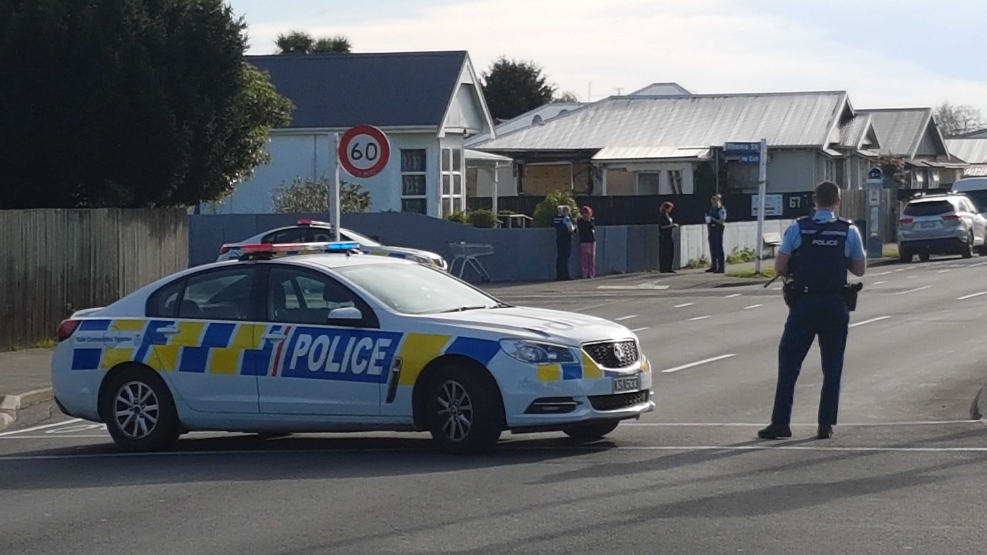 Armed police were called to Buckleys Rd in Linwood about 8am. Photo: Geoff Sloan