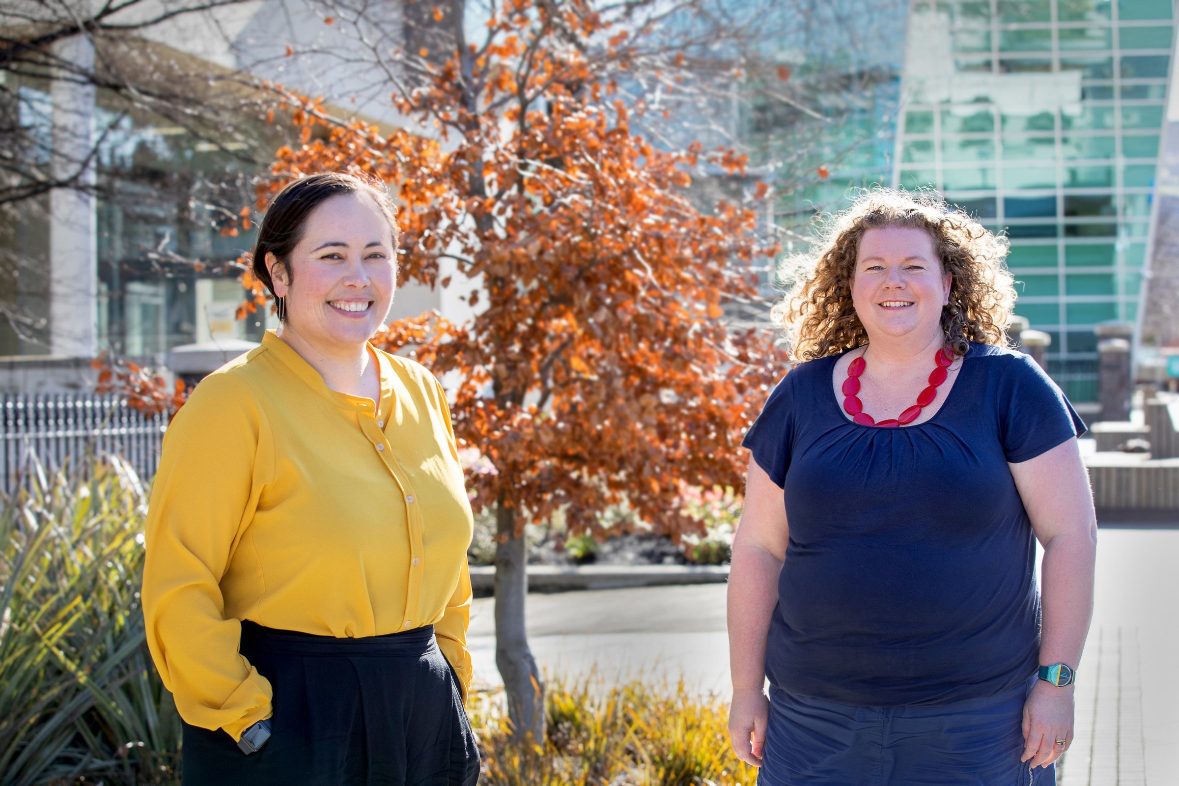 University of Otago Carl Smith Medal winners Anne-Marie Jackson (left) and Louise Bicknell. PHOTO...
