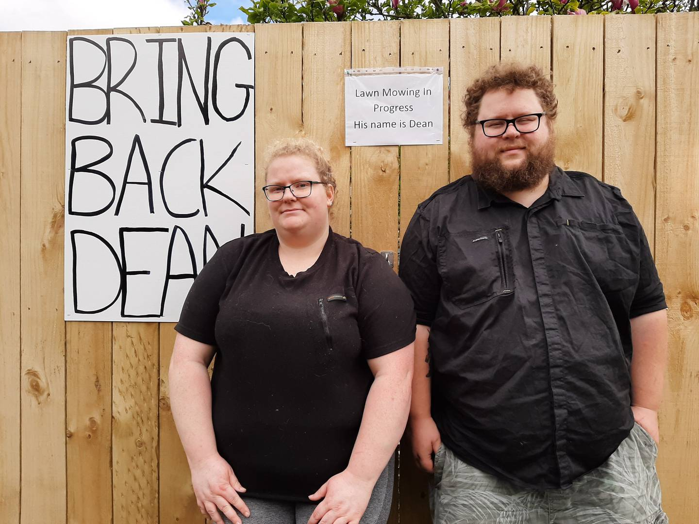 Annalise Orchard and Alistair Nicholson launched a campaign to get Dean back. Photo: Jenny Ling /...