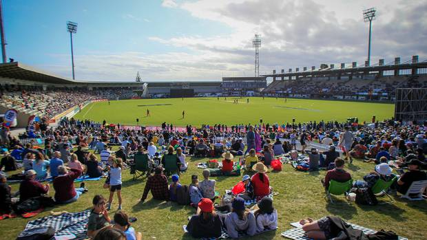 The T20 Black Clash at McLean Park, Napier, in January proved to be another popular event. Photo:...