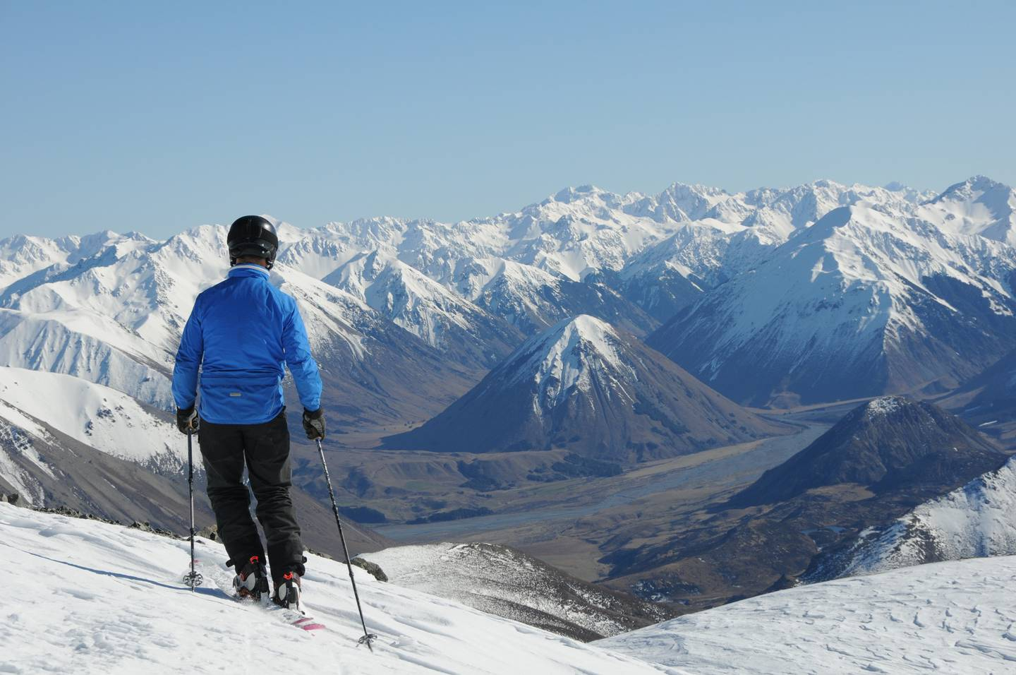 A view of the Southern Alps off the back of Porters Alpine Resort. Photo: Huw Kingston / NZH