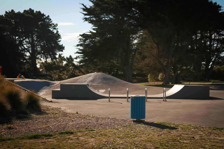 The assault took place near the Thomson Park skatepark. Photo: Logan Church