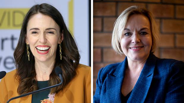 Prime Minister Jacinda Ardern (L) and leader of the Opposition Judith Collins. Photo: Getty...