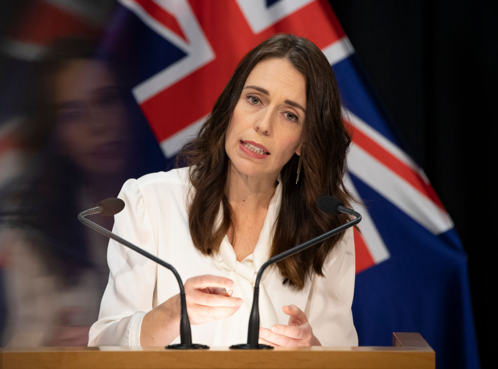 Prime Minister Jacinda Ardern speaks during the post-Cabinet media conference at Parliament where...