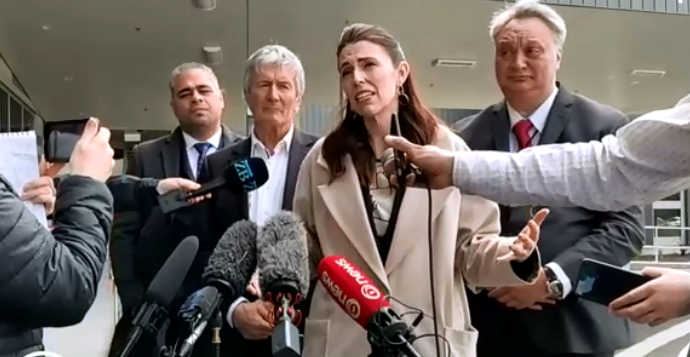 Jacinda Ardern's visit to the West Coast included two health centres.Image: NZ Herald