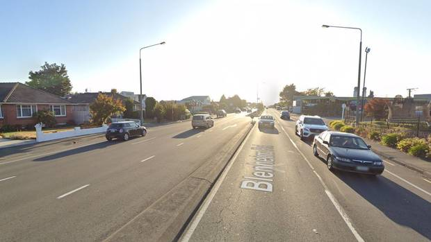 The vehicle was heading the wrong way up Blenheim Rd in Christchurch. Photo: Google
