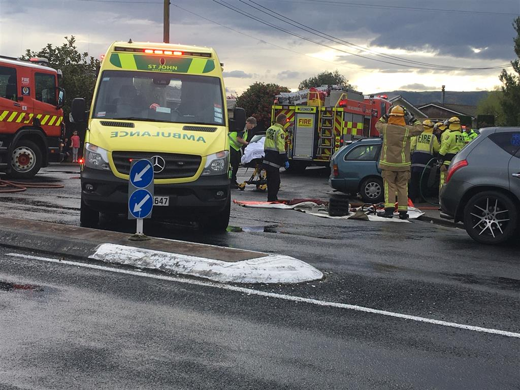 Emergency services at the scene this afternoon. Photo: Christine O'Connor