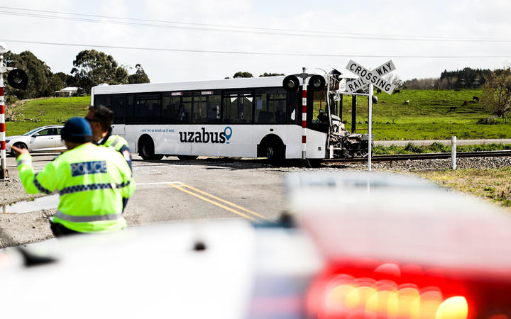 The driver of the bus was killed in the crash. Photo: RNZ