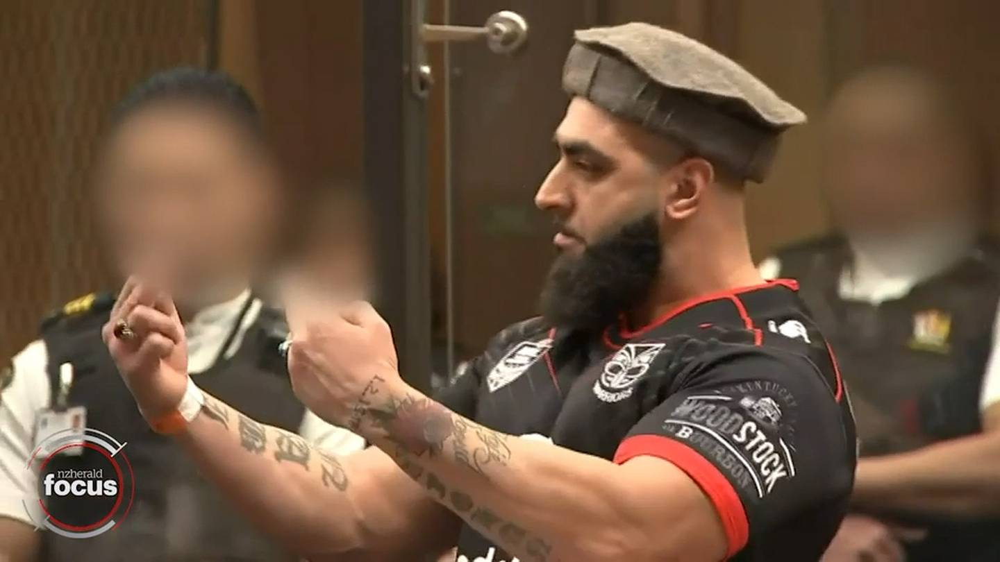 Ahad Nabi during his statement in the High Court. Photo: NZ Herald Focus