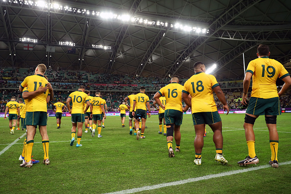 Quarantine regulations have been relaxed allowing the Wallabies to train all together when they...
