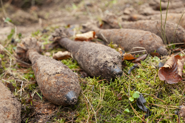 Old unexploaded mortar shells. Photo: File / Getty Images