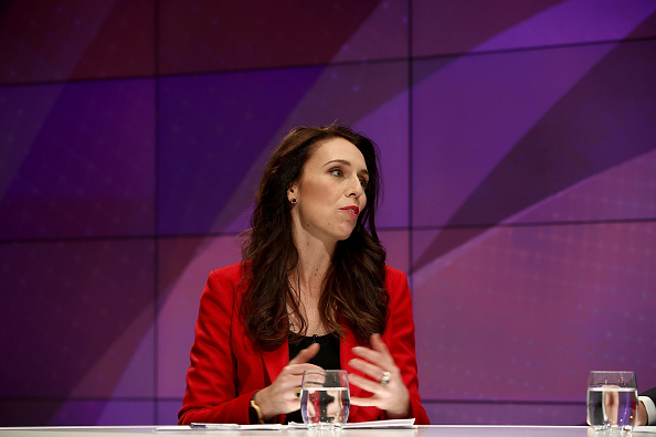 Labour Party leader Jacinda Ardern speaks during the TVNZ Vote 2017 debate. Photo: Getty Images
