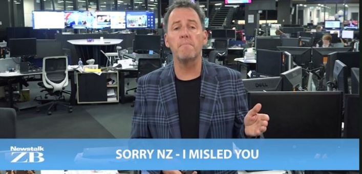 Mike Hosking in 2018 - hitting back at the broadcasting watchdog. Photo: screenshot via RNZ