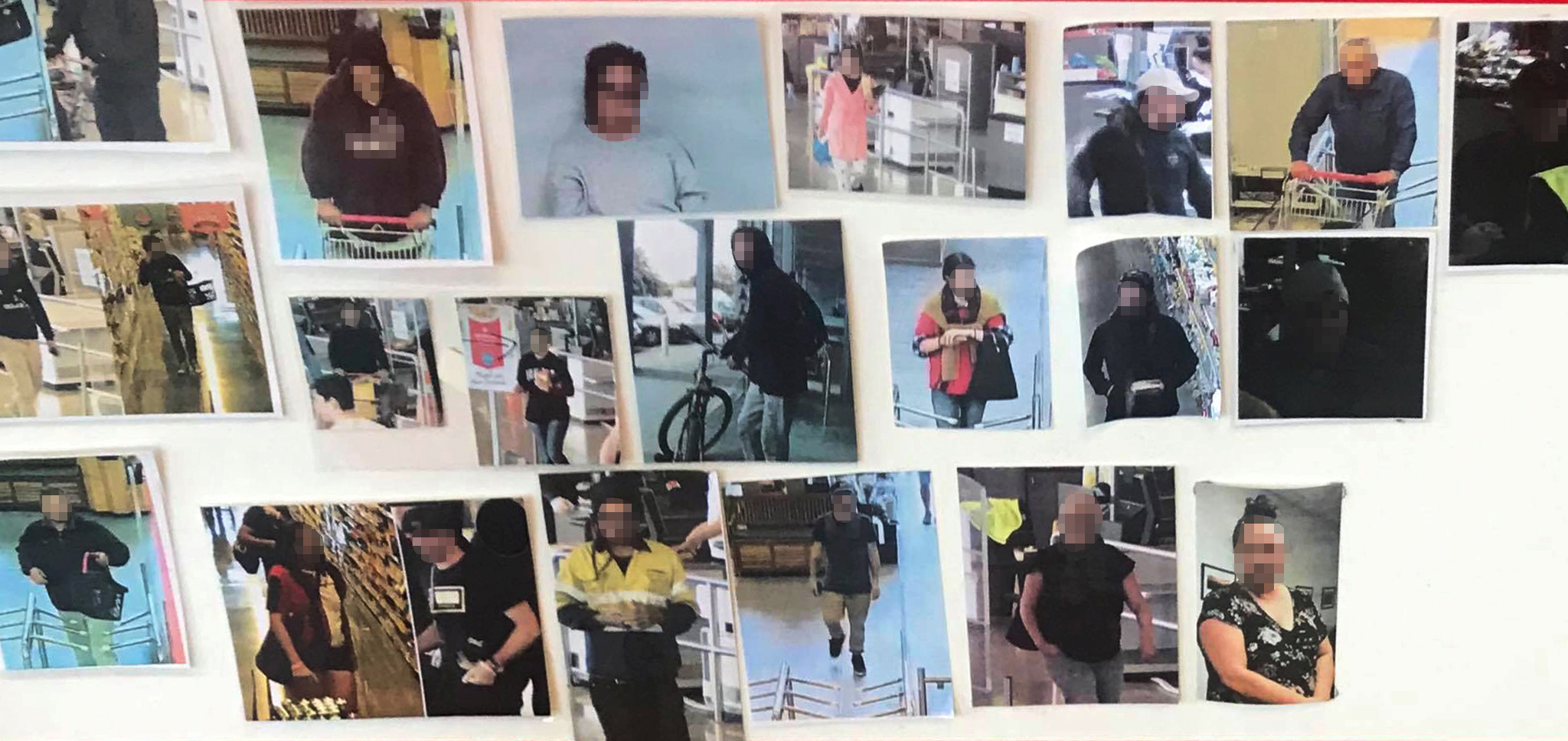 A noticeboard at a Christchurch supermarket that was removed yesterday after being in the...