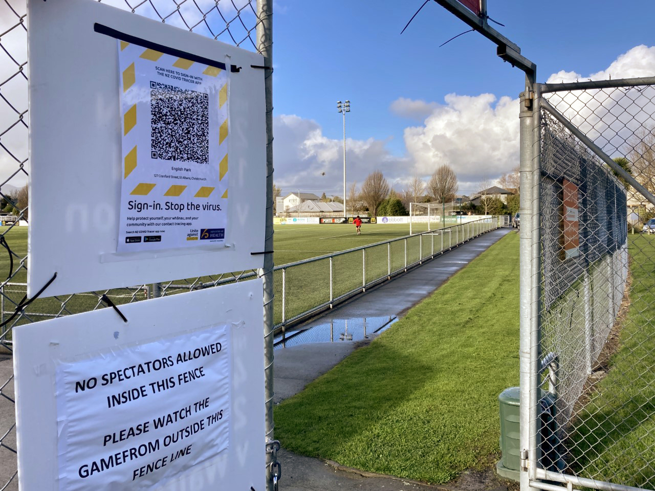 Mainland Football opted to bar spectators from its English Park headquarters to comply easier...