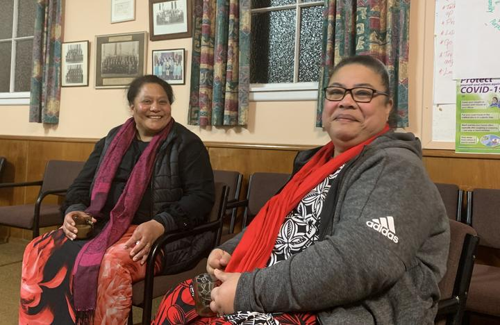 Oamaru Tongan community members Tuavale Misiloi (left) and Atela Asi. Photo: RNZ Pacific