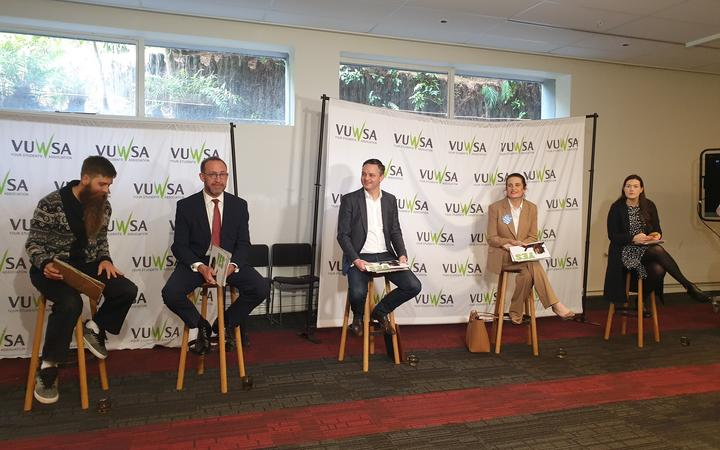 The Wellington Central debate was livestreamed with less than 40 people present due to Covid...