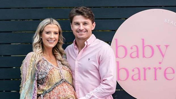 Beauden and Hannah Barrett's baby shower. Photo: Instagram