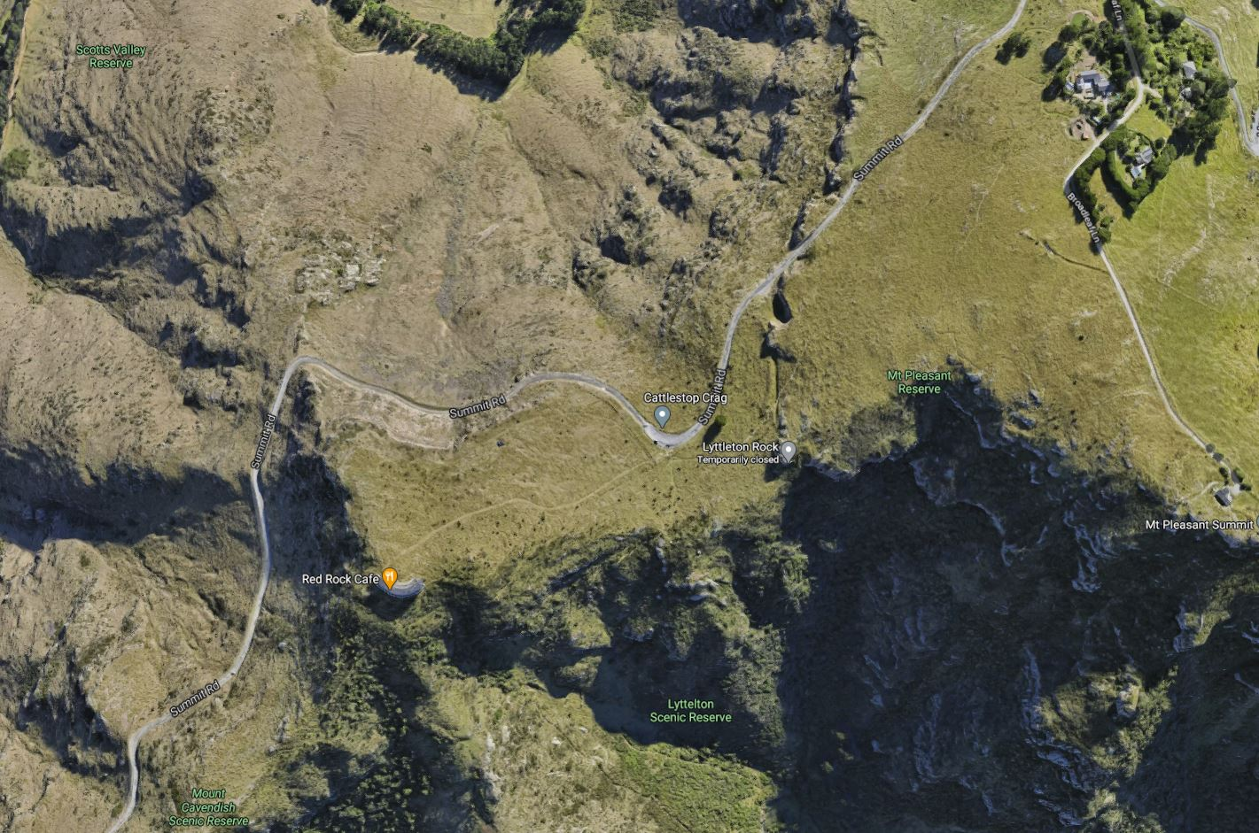 The woman's body was found at the bottom of the Cattlestop Crag rock climbing area. Photo: Google