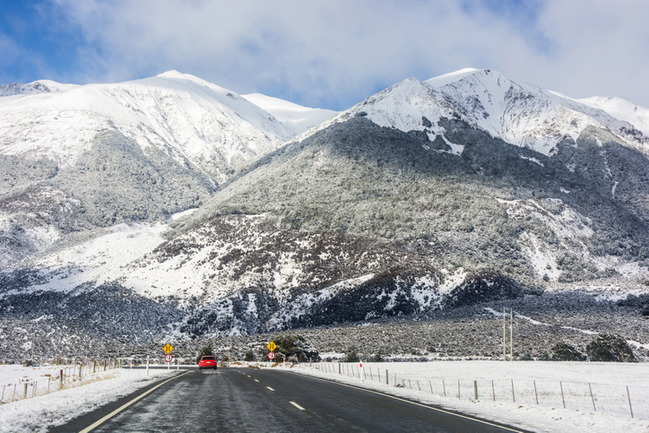 As much as 4cm of snow is likely to settle on the upper roads of Arthur's Pass. Photo: File /...