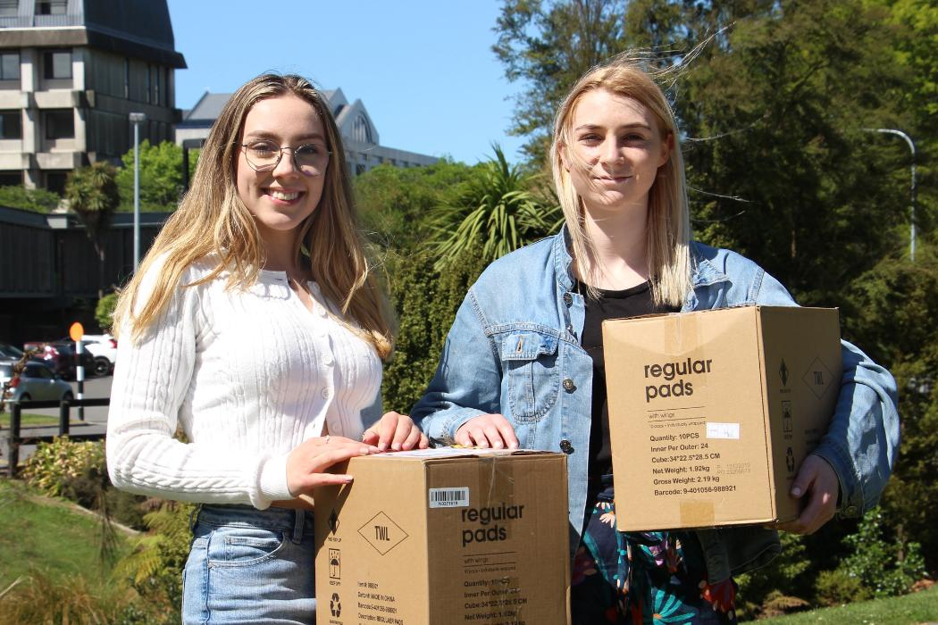 Canterbury University arts students, including Romy Gellen (left) and Charlotte Hawkins, have...